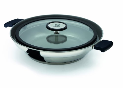 Beka Clean Cooking Non-Stick Bekadur Ceramic Fry Pan with Anti-Splatter Lid and 2 Side Handles - 9.5 Inch