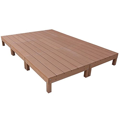 igarden アイガーデン アイウッドデッキ6点セットナチュラル アイガーデンオリジナル人工木ウッドデッキ、樹脂木、木樹脂、プラウッド、ウッドデッキセット、木製デッキ、縁台 B00FDL8SI2