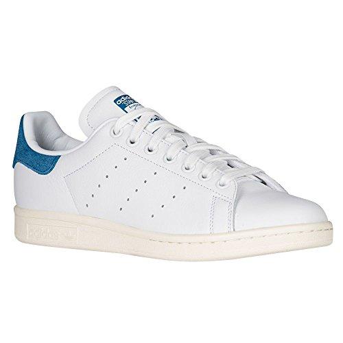 Adidas Originals Women's Stan Smith w Fashion Sneaker, White/White/Core Blue S, 6.5 M US