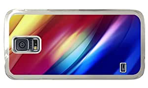 Hipster Samsung Galaxy S5 Case abstract colorful pixelated curves PC Transparent for Samsung S5