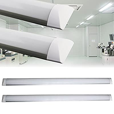 Surface mounted LED Batten Lights, 1.2m 4ft, 3000lm, 6000K Day white, 2er pack