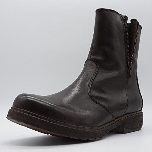 MANAS Damen Stiefel Boots Dunkelbraun Übergrößen