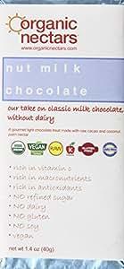 Organic Nectars Raw Cacao Chocolate Bar, Nut Milk Chocolate, 1.4-Ounce Bar (Pack of 3)