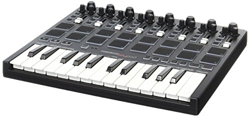 Reloop Keypad Compact USB MIDI Keyboard with DAW Control and Drum Pads by Reloop