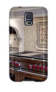 Waterdrop Snap-on Cherry Wood Kitchen With Neutral Tile Backsplash Case For Galaxy S5