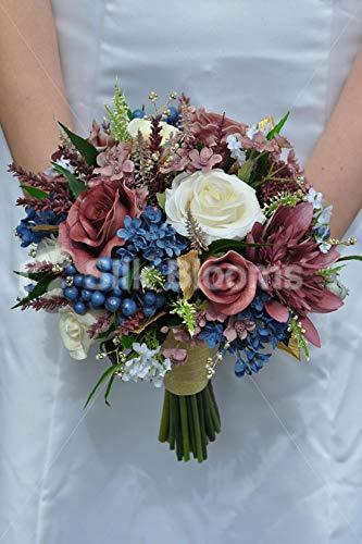 Amazon De Silk Blooms Ltd Kunstlicher Brautstrauss Mit Roten Rosen