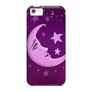 NikRun Scratch-free Phone Case For Iphone 5c- Retail Packaging - Nanou Moon