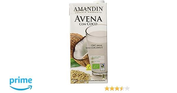 Amandin Bebida de Avena con Coco - Paquete de 6 x 1000 ml - Total: 6000 ml