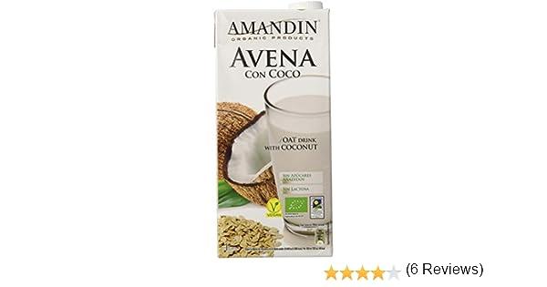 Amandin 400088 Bebida de Avena con Coco - Paquete de 6 x 1000 ml - Total: 6000 ml: Amazon.es: Alimentación y bebidas