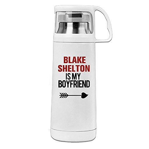 Beauty Blake Shelton 2 Water Bottle With A Handle Vacuum Insulated Cup For Hot And Cold Drinks Coffee,Tea Travel Thermal Mug,14oz ()