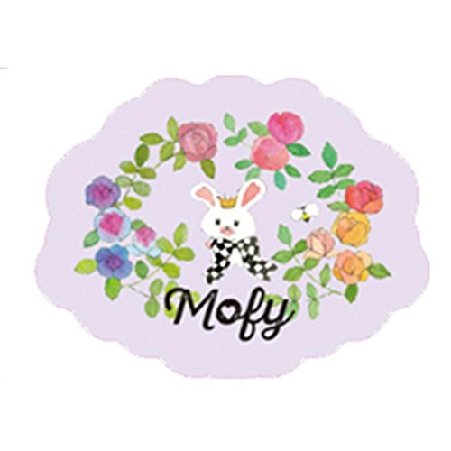 mofy-of-rabbit-parmi-les-roses-post-card-die-cut-from-japan-new