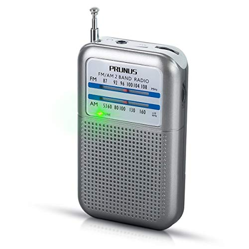 (PRUNUS DEGEN-DE333 Portable Mini Pocket FM/AM Transistor Radio [Close to Credit Card Size], Excellent Reception, Tuning Knob with Signal Indicator. Supports Replaceable Battery (AAA))