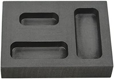 6 Cavity 10 oz Troy Ounce Silver Rectangle Graphite Ingot Mold for Melting Casting Refining Scrap Metal Jewelry