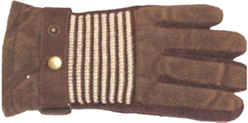 Suede Microfiber Lined Luxurious Looking Brown Color Ski Gloves -