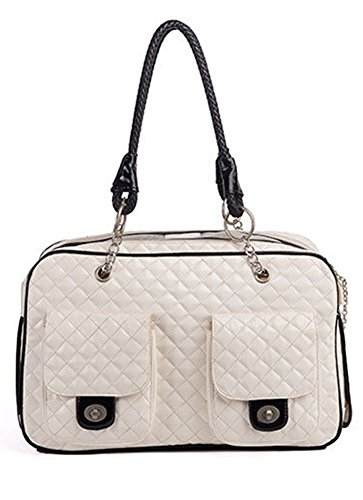 BETOP HOUSE Soft-Sided Pet Carrier Purse for Travel, White by BETOP HOUSE