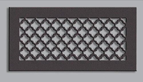 6 x 30 Oil Rubbed Steel Tuscan Ceiling and Wall Air Returns and Grilles (8'' x 32'' Overall) by Vent Covers Unlimited