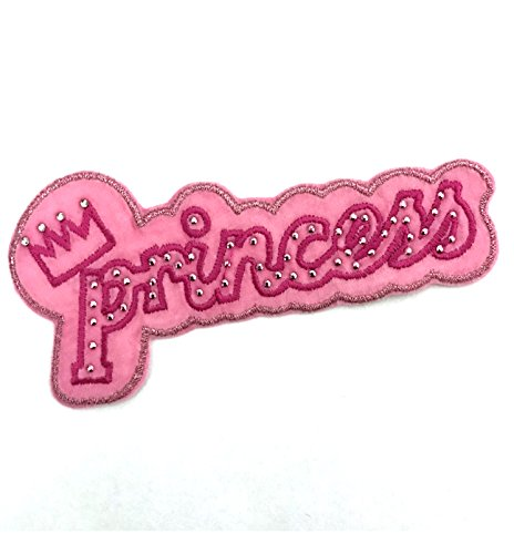 Pink Princess w/ Crown Iron On or Sew On Embroidered Patch 10 - Disney On Princess Iron