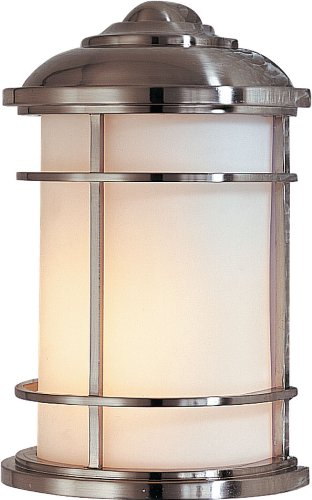 Lighthouse Brass Sconce - Feiss OL2203BS Lighthouse Outdoor Lighting Wall Pocket Sconce, Satin Nickel, 1-Light (7