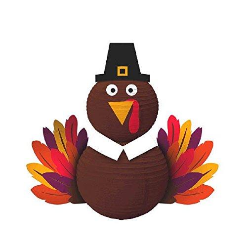 Thanksgiving Brown Paper Turkey Lantern   Party Decoration