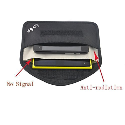 Cell Phone Anti-tracking Anti-spying GPS Rfid Signal Blocker Pouch Case Bag Handset Function Bag (Black)