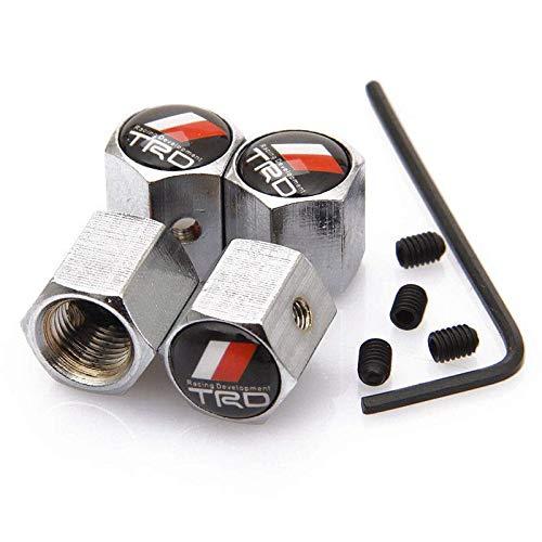 - yunming Anti-Theft Chrome Car Wheel Tire Valve Stem Caps for TRD Toyota