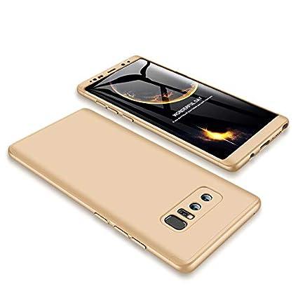 GoodcAcy Funda Samsung Galaxy Note 8,Carcasa Móvil de Protección de 360°+ Cristal Templado HD Protector de Pantalla 3 en 1 Desmontable con Caso Case ...