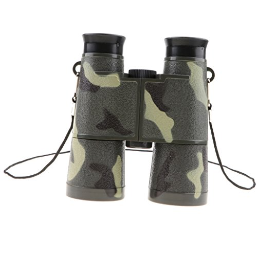 Baoblaze 6x35mm Camouflage Telescope Toy with a Neck String, Binoculars for...