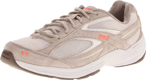 RYKA Women's Sport Walker 6 Walking Shoe,Taupe/Dark Brown/Orange,8 M US