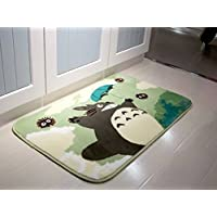 Sytian® 50*80cm Super Soft Non-slip My Neighbor Totoro Shaggy Area Rugs Carpet Bedroom Rug Bath Mat Bathroom Rug Kitchen Floor Mat Shower Rug (19.68*31.49 Inch)