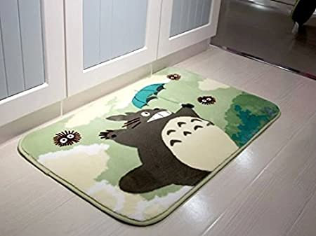 Sytian 50 * 80cm Super Soft Non-Slip My Neighbor Totoro Shaggy Area Rugs Carpet Bedroom Rug Bath Mat Bathroom Rug Kitchen Floor Mat Shower Rug (19.68 * 31.49 inch) Stay Young shaggy area Rug 888