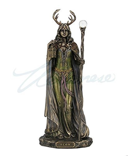 Elen of the Ways - Antlered Goddess of the Forrest Statue Sculpture Figure ()