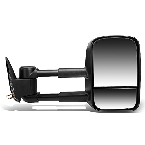 DNA MOTORING TWM-001-T222-BK-R Manual Tow Mirror Right (03-07 Chevy Silverado/GMC Sierra)