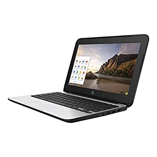 HP Chromebook 11 G4 11.6 Inch Laptop (Intel N2840 Dual-Core, 2GB RAM, 16GB Flash SSD, Chrome OS), Black (Renewed)