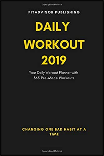 amazon daily workout 2019 your daily fitness planner with 365 pre