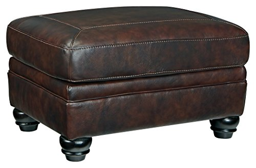 Signature Design by Ashley 8220214 Bristan Ottoman, Walnut