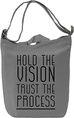 Hold Vision Borsa Giornaliera Canvas Canvas Day Bag| 100% Premium Cotton Canvas| DTG Printing|