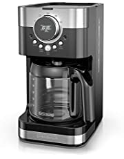 BLACK+DECKER Coffee Maker, Select-A-Size Easy Dial Control, Programmable Coffeemaker, Black and Stainless Steel, CM4200SC