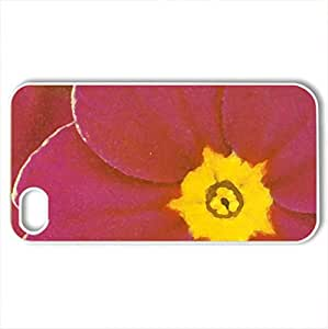 Flower - Case Cover for iPhone 4 and 4s (Flowers Series, Watercolor style, White)