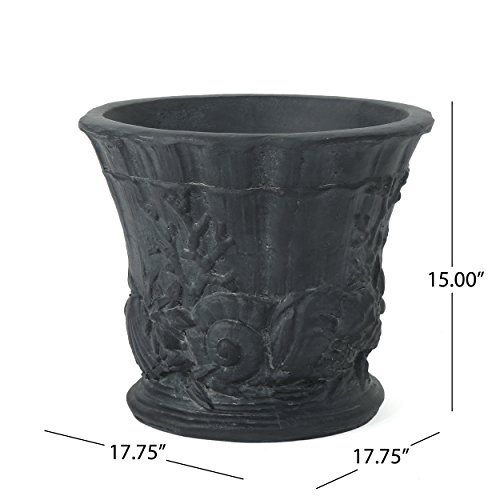 Great Deal Furniture Fern Outdoor Antique Black Finish Light Weight Concrete Urn by Great Deal Furniture (Image #7)