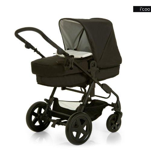 i'coo Photon Stroller, Black/White, 0-48 Months