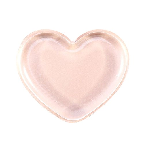 Premium Silicone Makeup Sponge Hosamtel 1PC Love Heart-shaped Applicator Beauty Blender Makeup Puff for Liquid Foundation BB CC Cream Concealer Beauty Essentials Application Heart Shaped Silicone