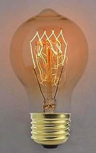 Cablematic - Bombilla Edison de filamentos incandescentes E27 220VAC 40W 60x112mm