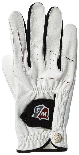 Wilson Staff Herren Grip Plus Golf Handschuhe Rechte Hand, Weiß, M, WGJA00920M