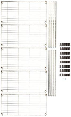 AmazonBasics 5-Shelf Shelving Unit - Chrome by AmazonBasics (Image #8)