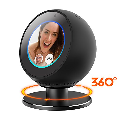 GELISHI Full Aluminum Stand Mount 360° Horizontal Rotation Metal Bracket for Amazon Echo Spot - Strong Magnetice Base Skidproof,Echo Spot Accessories for Home/Office application Base - Black