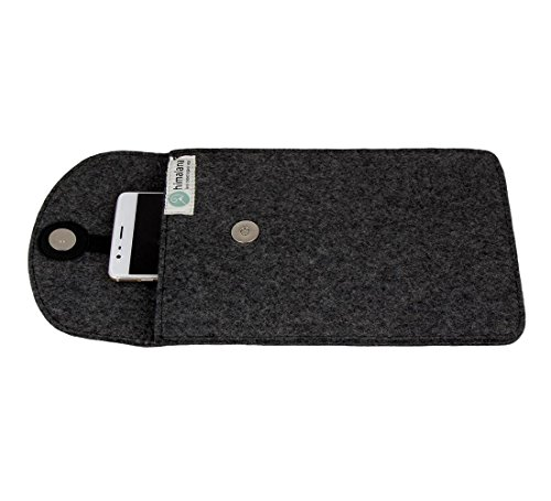 Mojopanda Virgin Organic Wool Felt 12 Inch Ipad, Smartphone Grey Sleeve Case Carrying Pouches Best Christmas / Xmas And Thanksgiving Gifts For Men & Women - Wool Felt Pouch