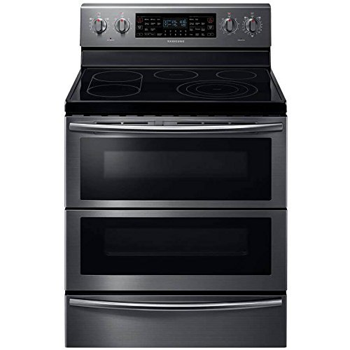 Samsung NE59J7850WG 30in Black Stainless Steel Electric Smoothtop Double Oven Range - Convection (Renewed)