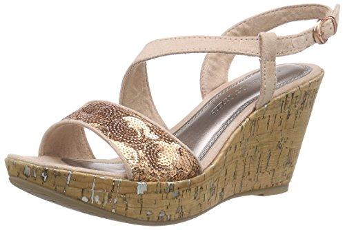 Marco Tozzi 28315, Women's Wedge Heel Platform Sandals Pink (Rose Comb 596)