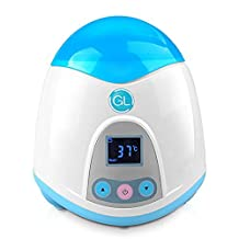 Gland Bottle Warmer Quick Bottle Warming System with LCD Display (warm keeping,heating,sterilization,w/ a food container),advanced Ceramic PTC highly efficient heat & Precise Temperature Control (Blue)