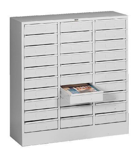 Tennsco 2085 Steel Letter Size Thirty Drawer Cabinet, 31